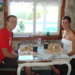 John & Kristen Fetterhoff on their Honeymoon Granddaughter of Rev. Jim Meena - Holmes Beach, FL