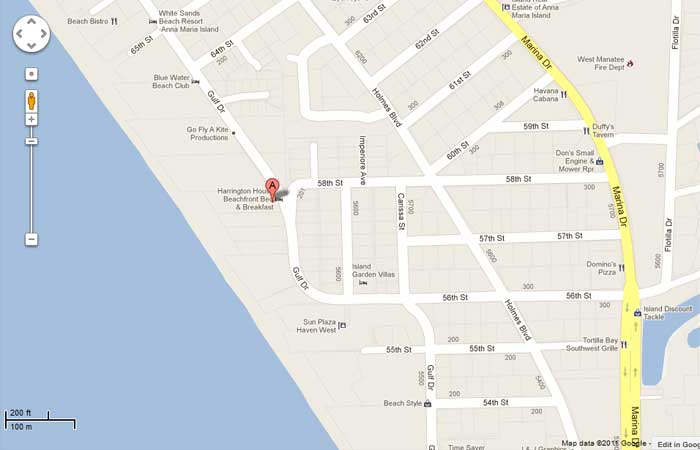 Map Of Anna Maria Island With Street Names