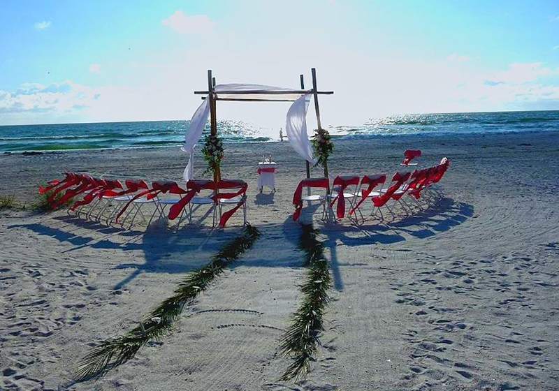 Florida island wedding